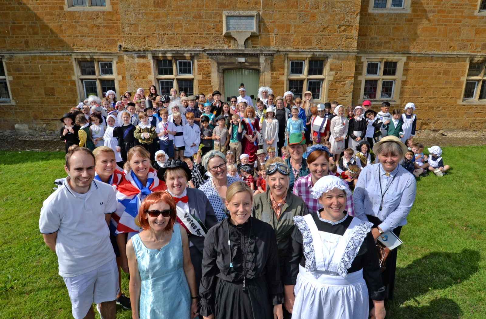Clipston staff & pupils, 350th Anniversary